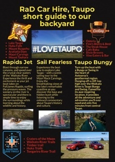 RaD Car Hire, Taupo short guide to our backyard
