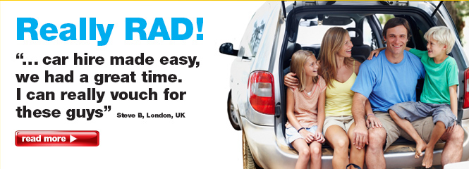 Family Holidays with Rent a Dent hire cars