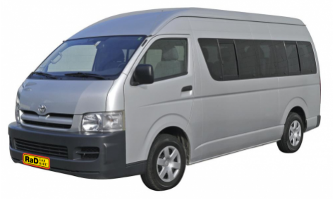 Late model Toyota Hiace 12 Seater