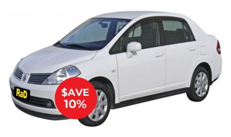 Compact Sedan/Hatch - No booking or credit card fees, free additional drivers
