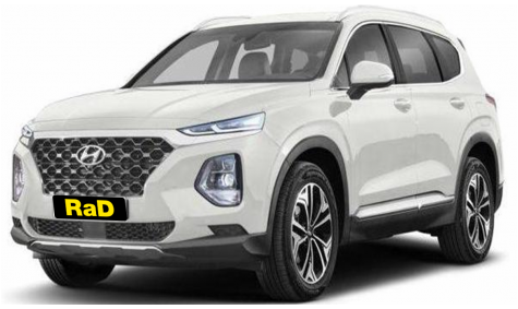 AWD Hyundai Santa Fe Year 2019 edition.